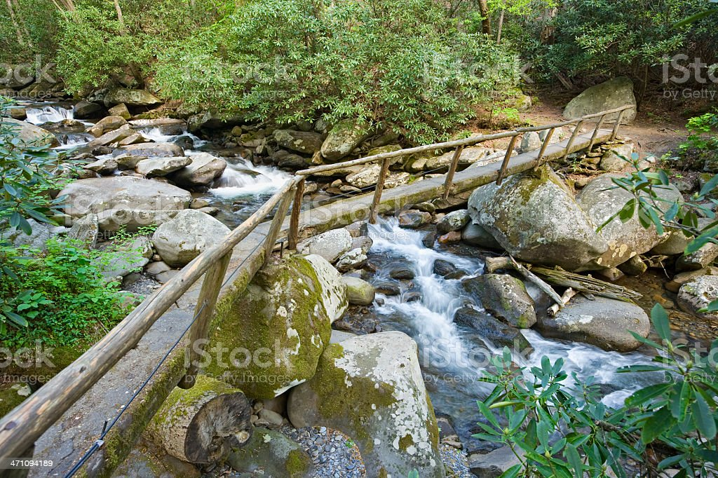 Footbridge to Serenity royalty-free stock photo