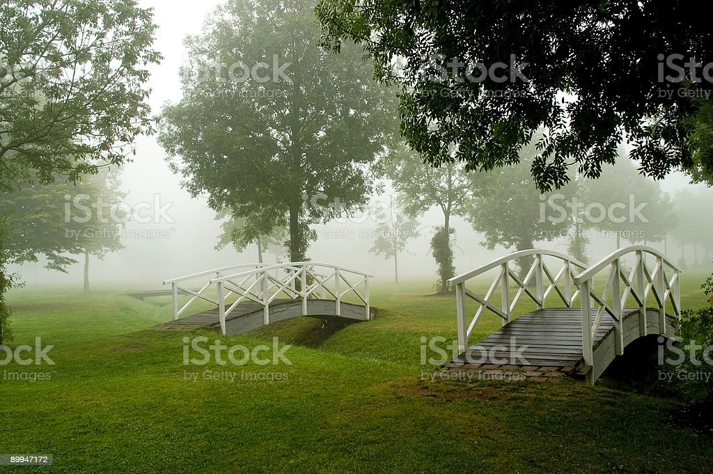 Footbridges royalty-free stock photo