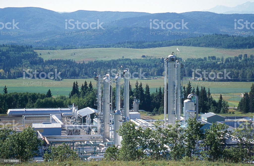 Foothills Gas Plant #1 royalty-free stock photo