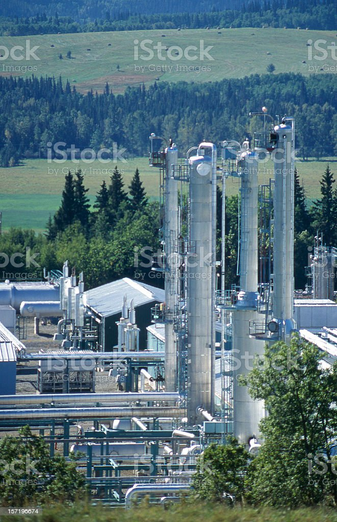 Foothills Gas Plant #2 royalty-free stock photo