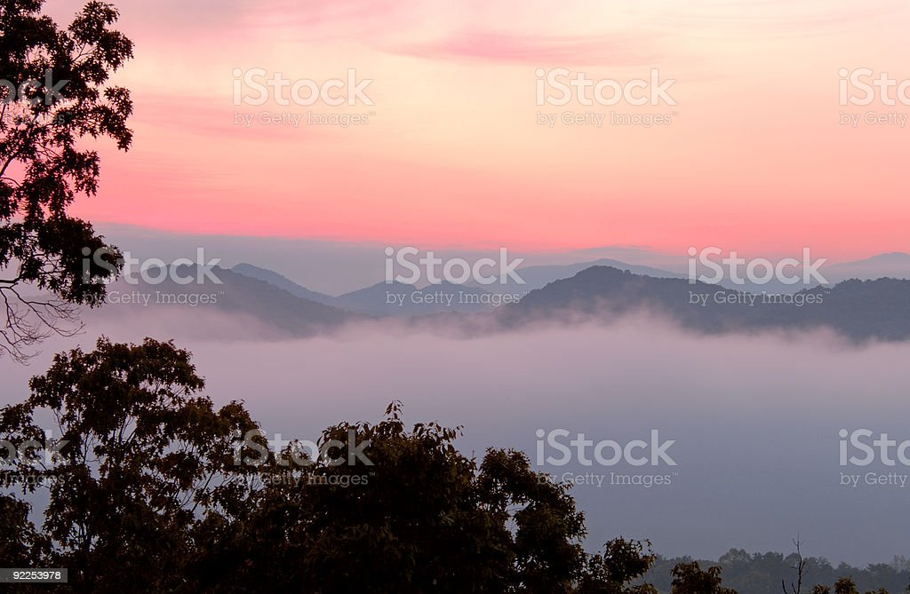 Foothills Parkway Dawn, Great Smoky Mountains National Park, Tn stock photo
