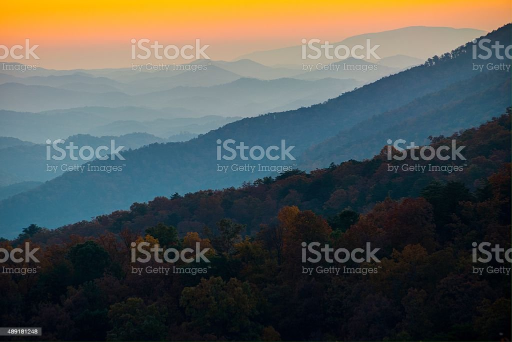 Foothills Parkway in Great Smoky Mountains National Park stock photo
