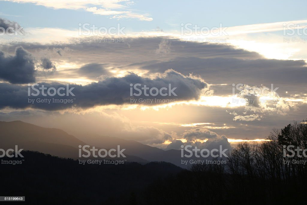 Foothills Parkway Skyscape stock photo
