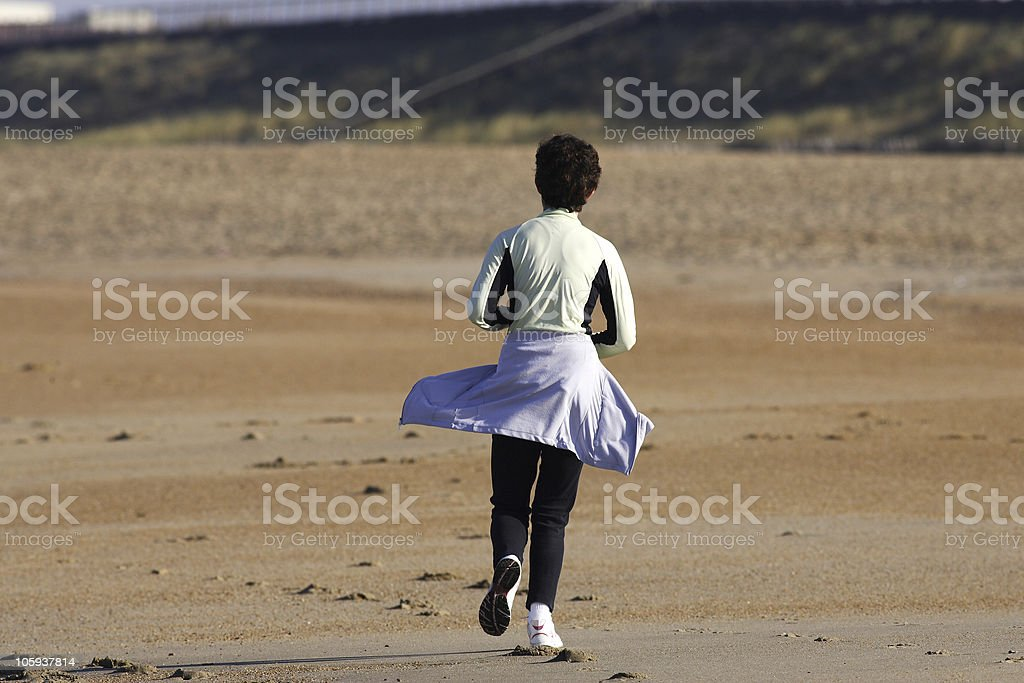 footing on a beach royalty-free stock photo