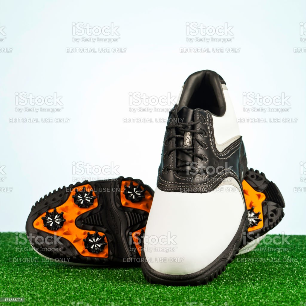 FootJoy Golf Shoes Showing Sole royalty-free stock photo
