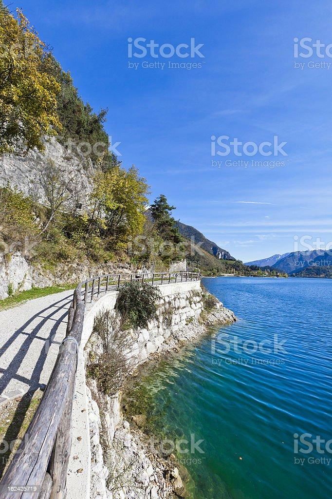 Footpath At Lake Ledro stock photo
