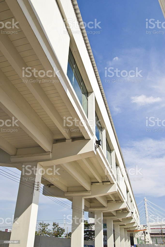 footpath goes to the building in an airport , royalty-free stock photo