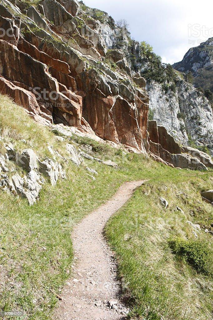 Footpath in Asturias, Spain royalty-free stock photo