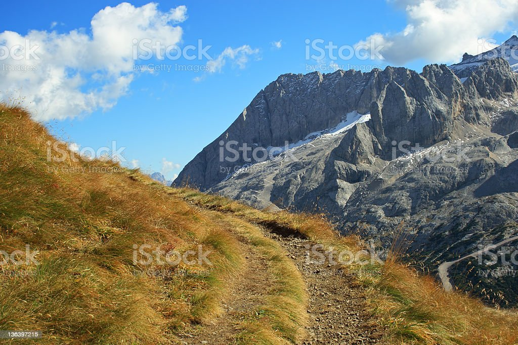 Footpath in Mountain stock photo