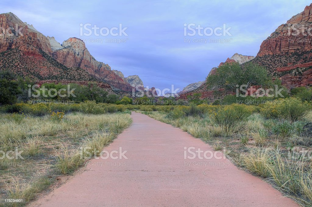 Footpath in Zion national park royalty-free stock photo
