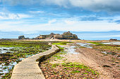 Footpath leading to Elizabeth Castle Jersey