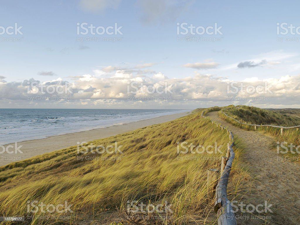 Footpath near beach royalty-free stock photo