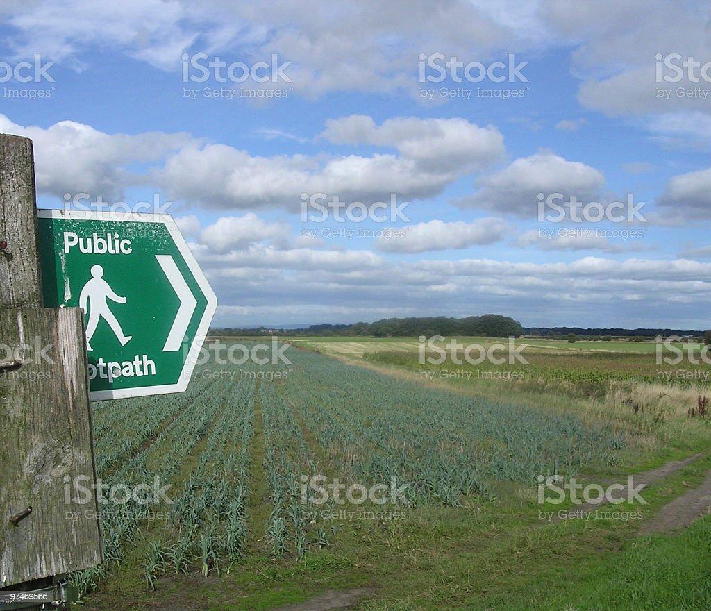 Footpath over Farmland. royalty-free stock photo