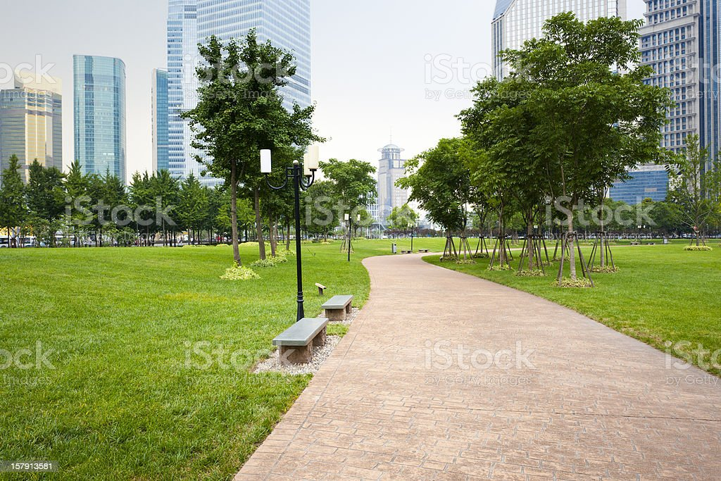 footpath stock photo