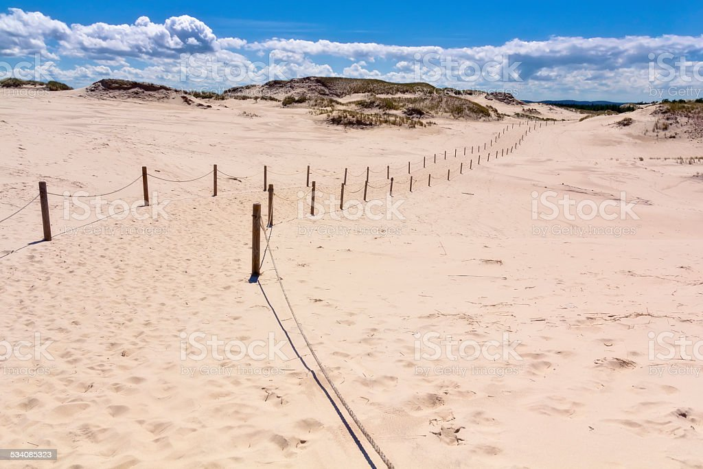 Footpath through the dunes stock photo