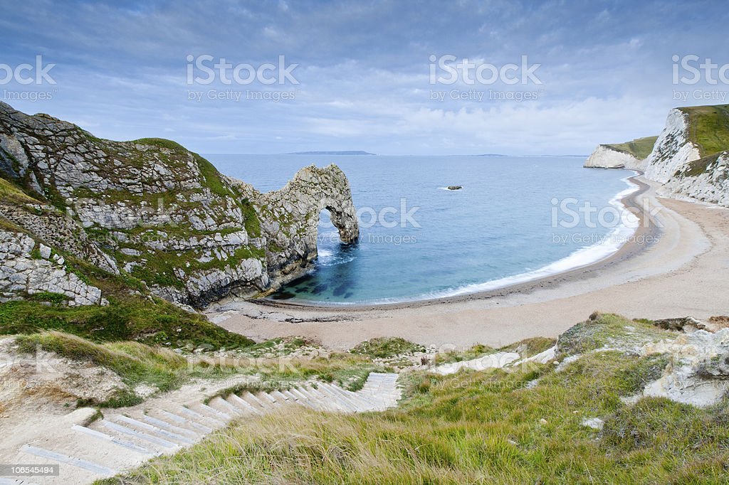 Footpath to Durdle Door stock photo