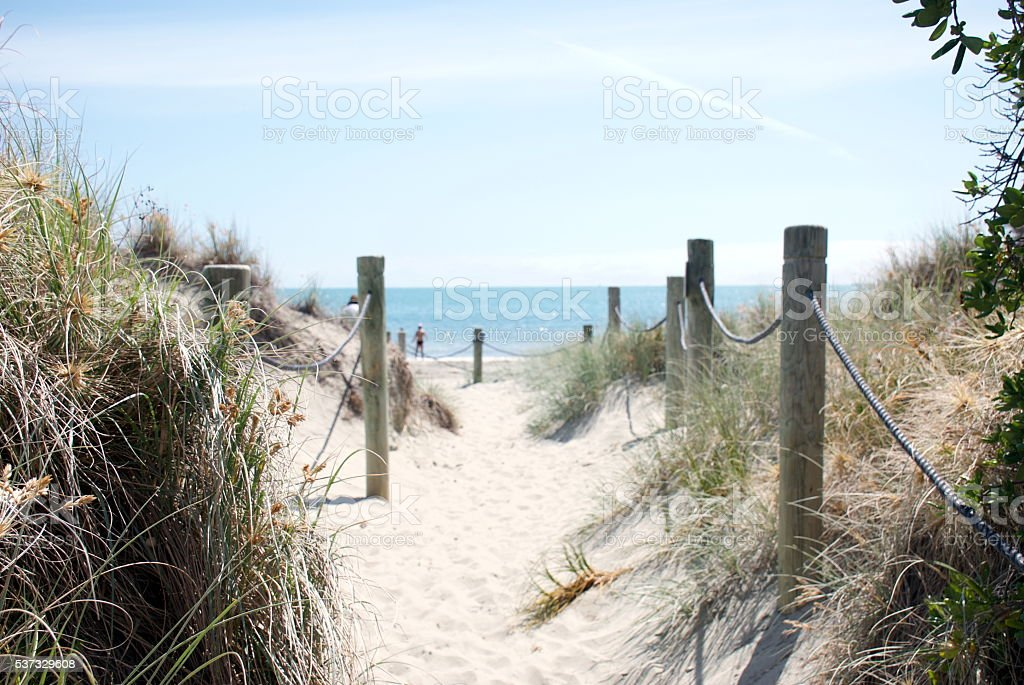Footpath to the Beach stock photo