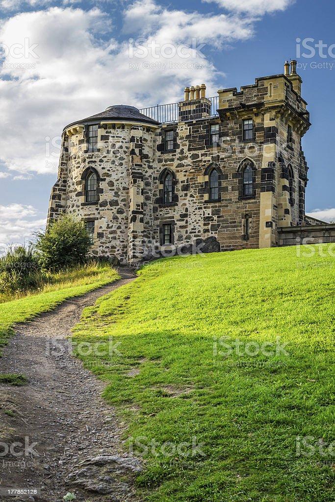 Footpath to the Gothic House Edinburgh royalty-free stock photo