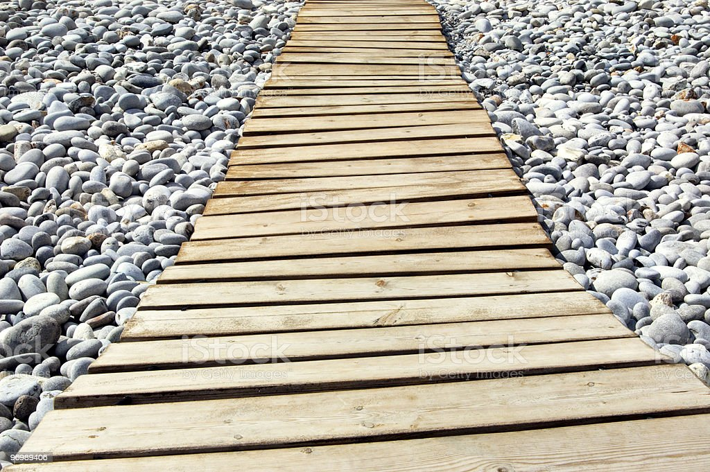 Footpath to the sea royalty-free stock photo