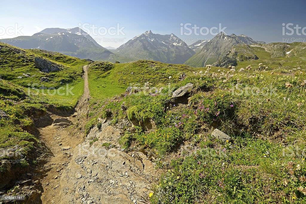 Footpath to the summit royalty-free stock photo