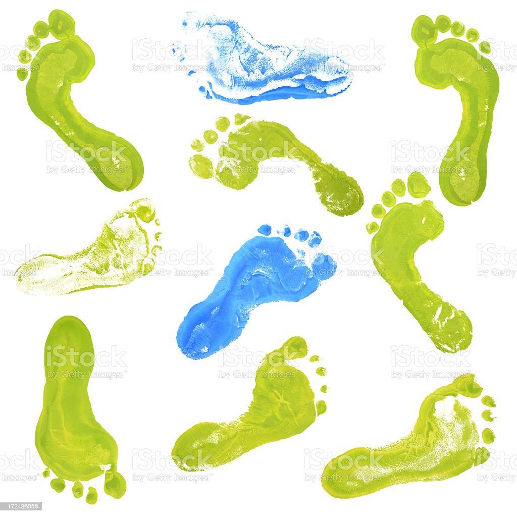 Footprint Background royalty-free stock photo