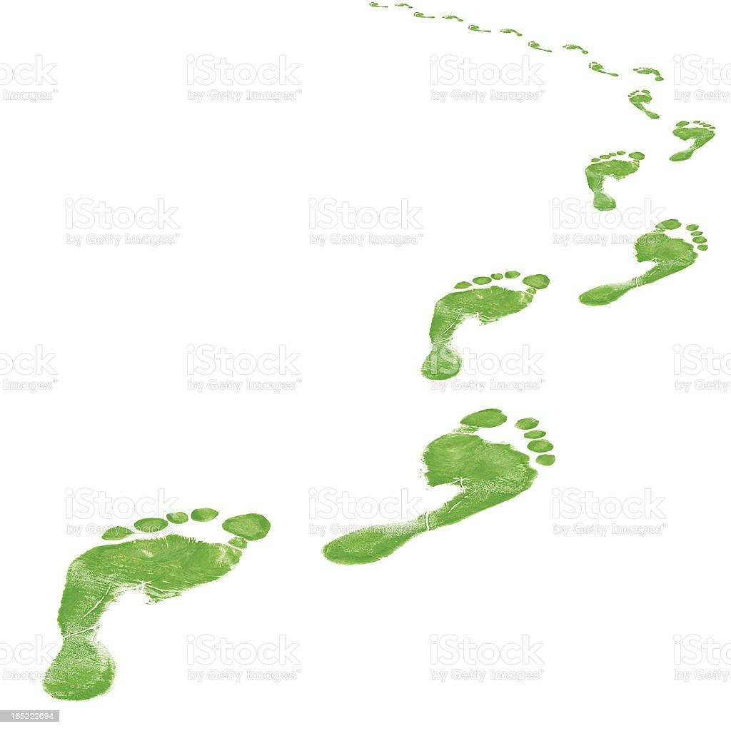 Footprint Path stock photo