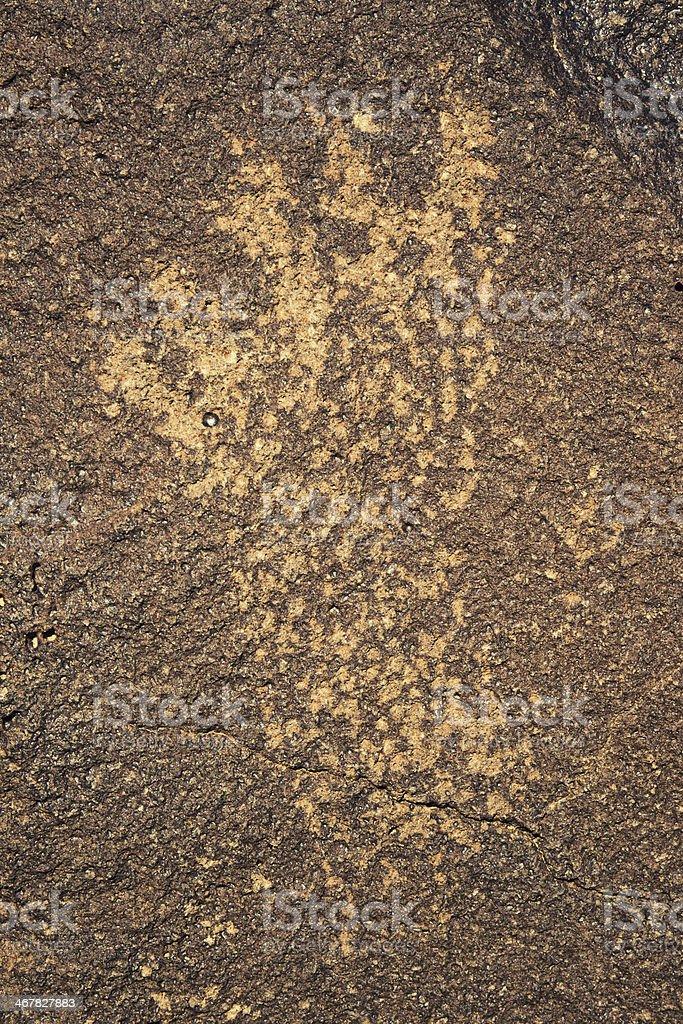 Footprint Pictogram - Petroglyph National Monument stock photo