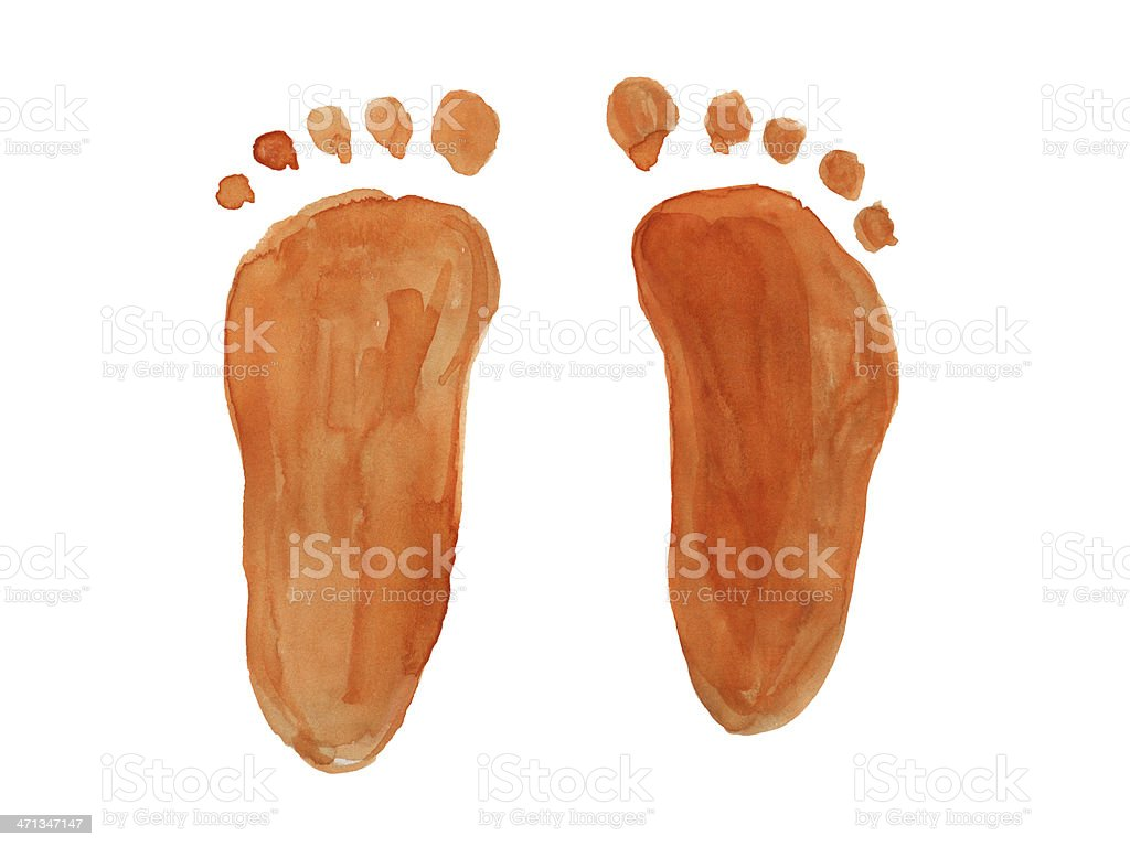 Footprint royalty-free stock photo