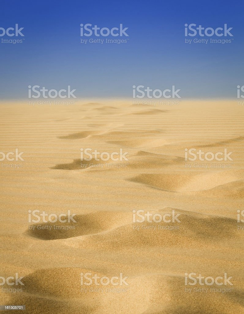 Footprints at the Sand Dune royalty-free stock photo