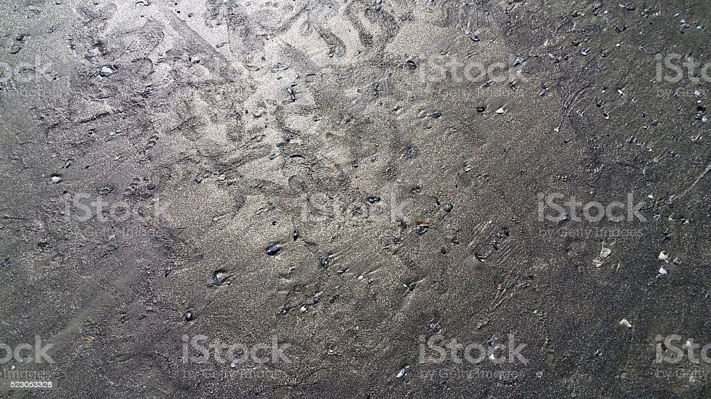 Footprints in Gold Sand stock photo