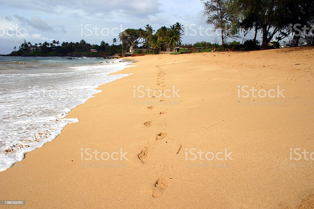 Footprints in the sand II royalty-free stock photo