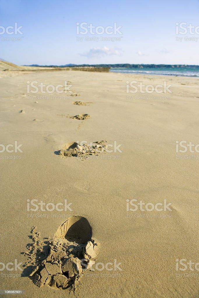 Footprints royalty-free stock photo