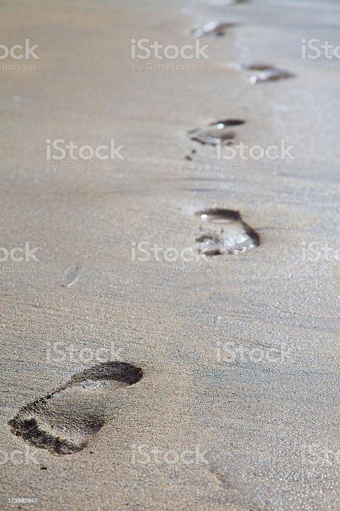 Footprints (XXL) royalty-free stock photo
