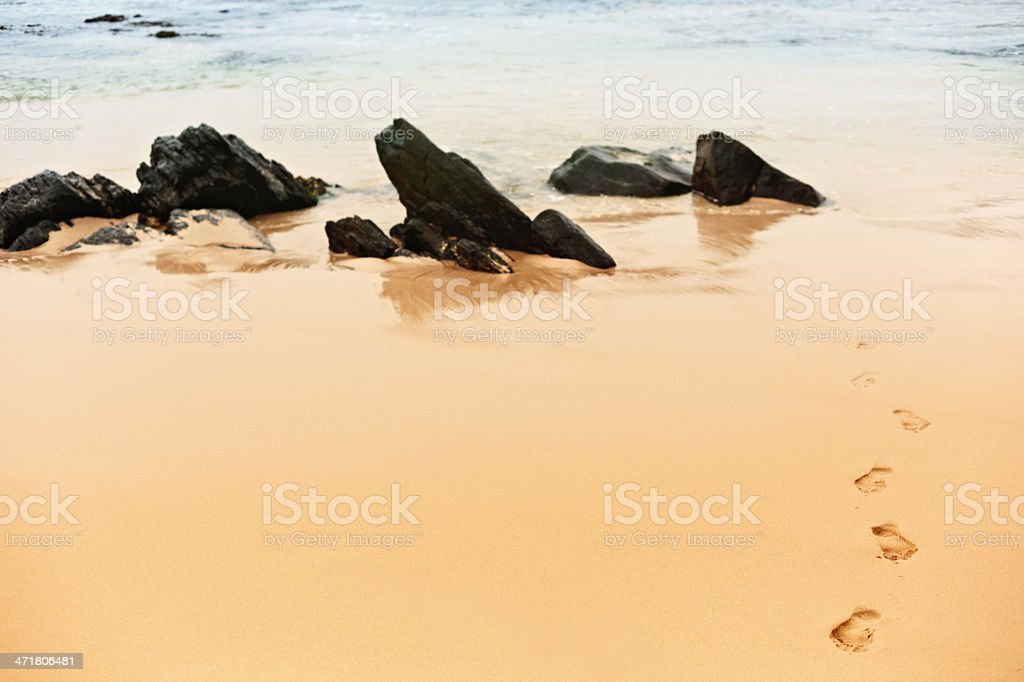 Footprints royalty-free stock photo