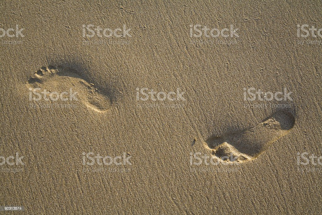 footprints stock photo