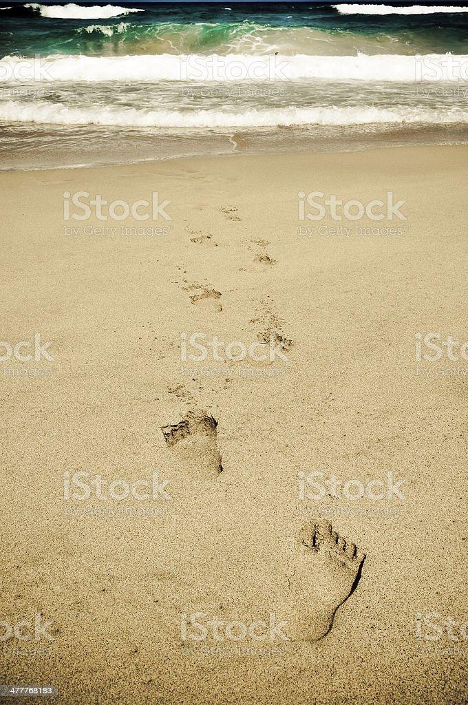 Footprints das Meer Lizenzfreies stock-foto