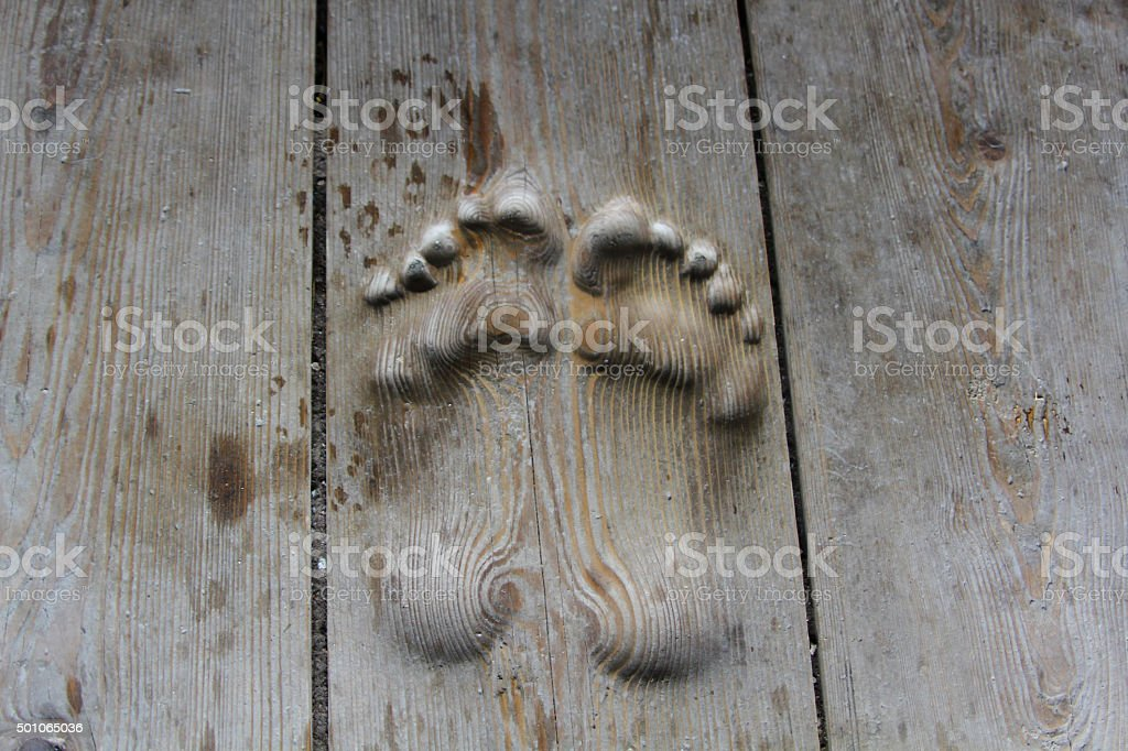 Foots in tibetian budhish temple stock photo