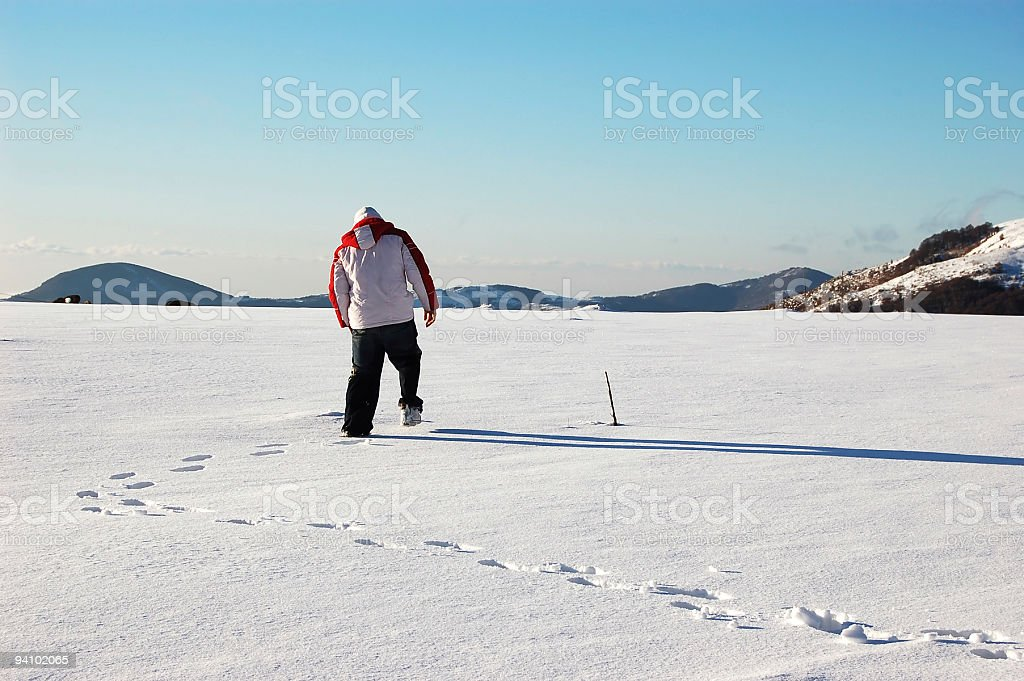 Footstep Maker stock photo