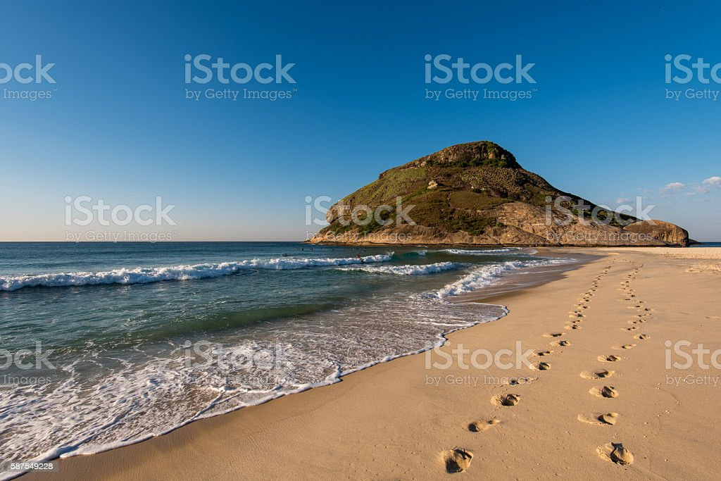 Footsteps in the Beach stock photo