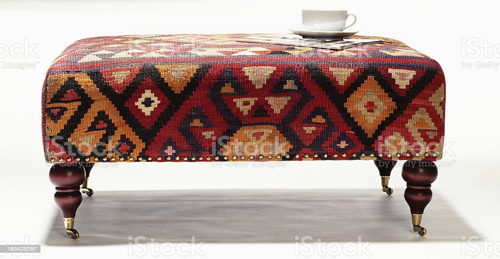 Footstool stock photo