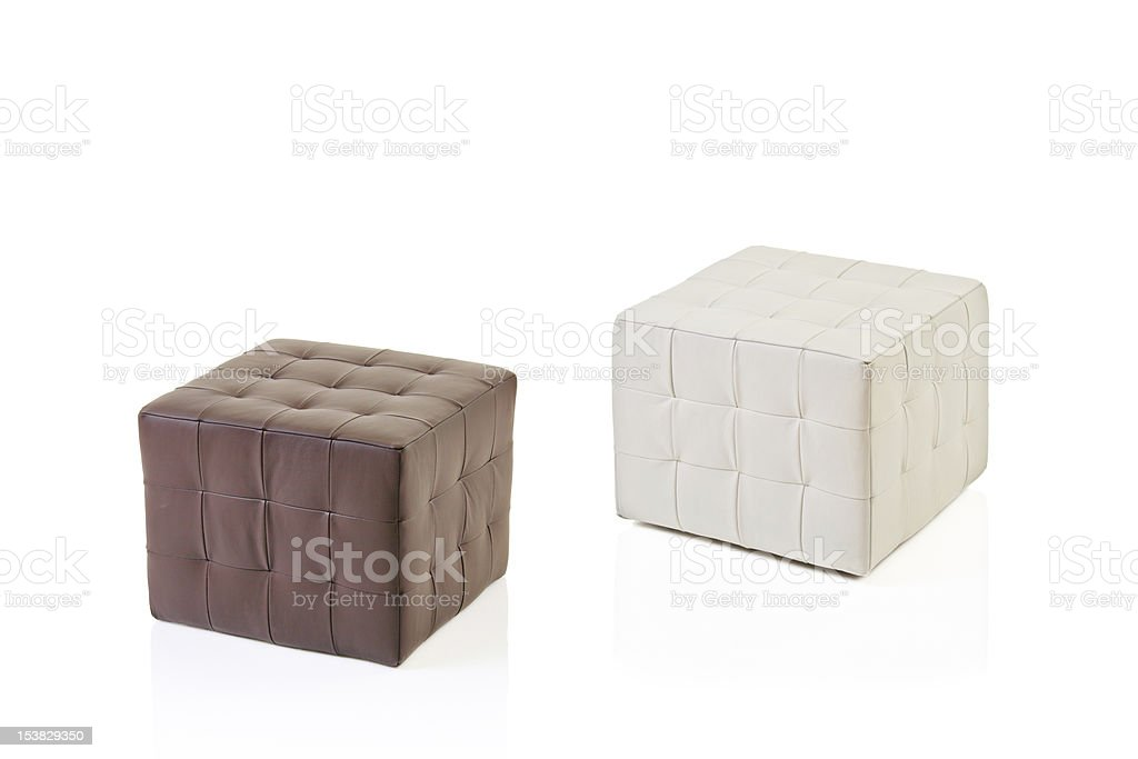 Footstools isolated on white stock photo