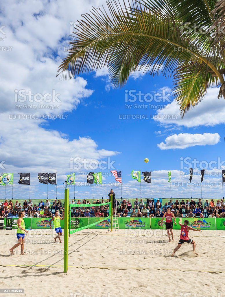 Footvolley 2016 stock photo