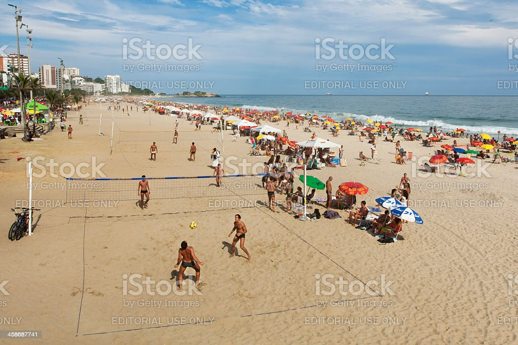 Footvolley in Ipanema Beach royalty-free stock photo