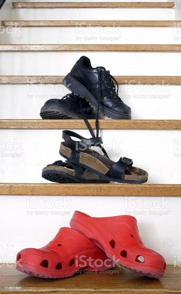 Footwear Family royalty-free stock photo