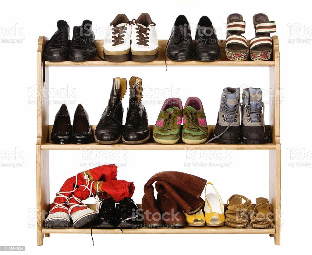Footwear on regiments stock photo