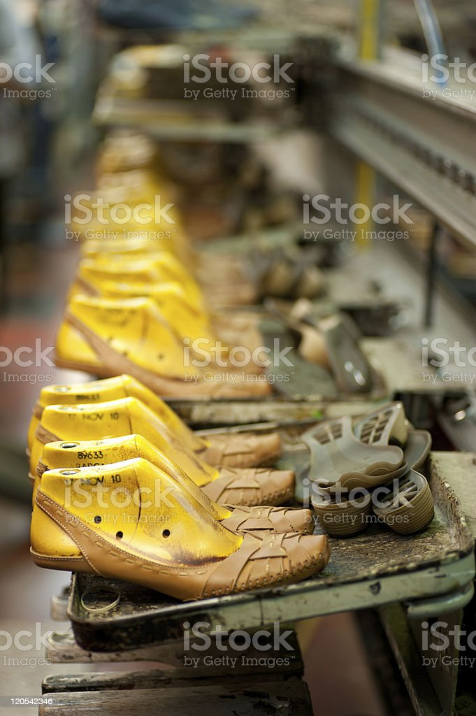 Footwear production royalty-free stock photo