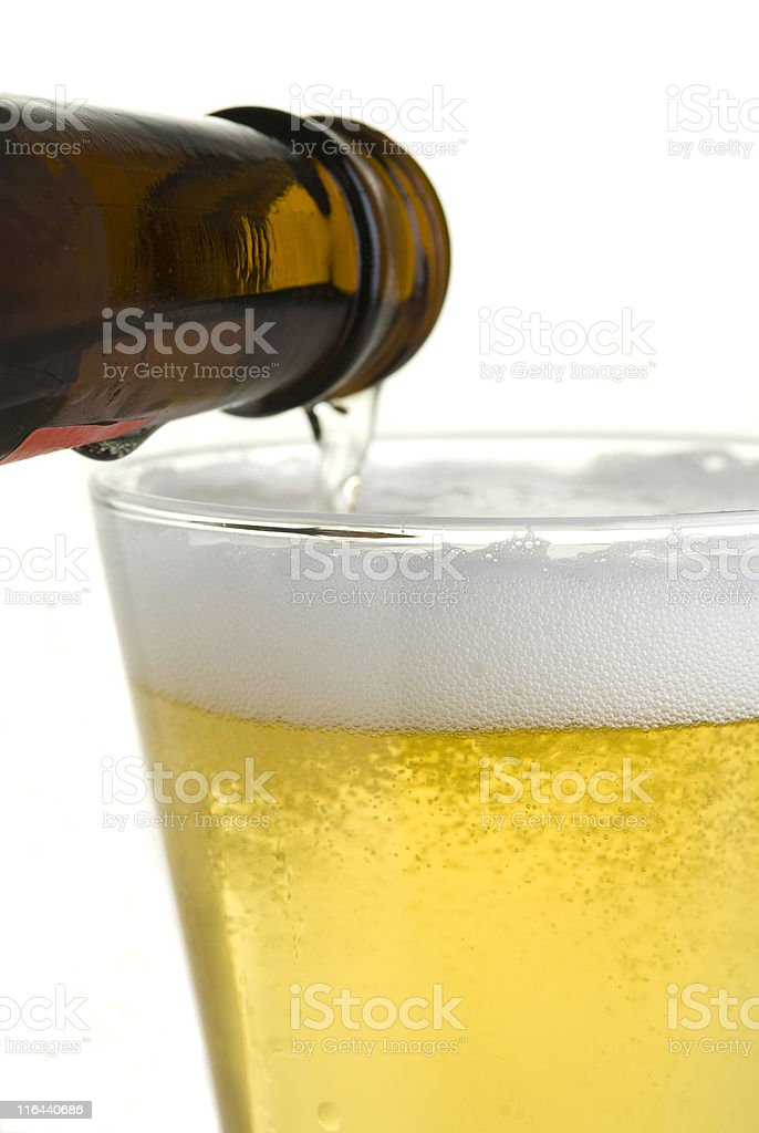 Pour A Beer royalty-free stock photo
