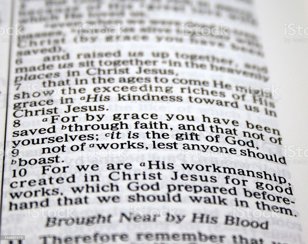 For By Grace You Have Been Saved.... stock photo