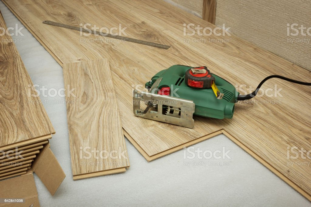 For cutting laminate used jigsaw stock photo