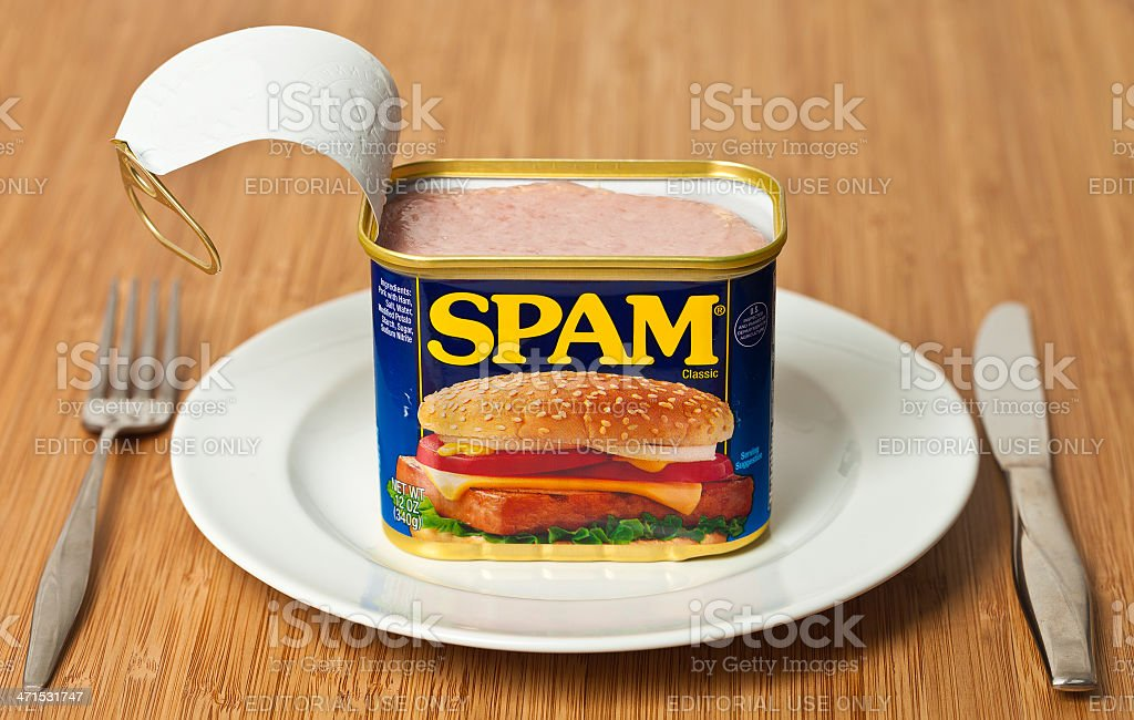 SPAM For Dinner stock photo